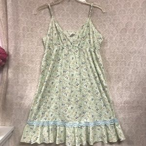 Free People Summer Dress ADORABLE Lace Trim SZ M